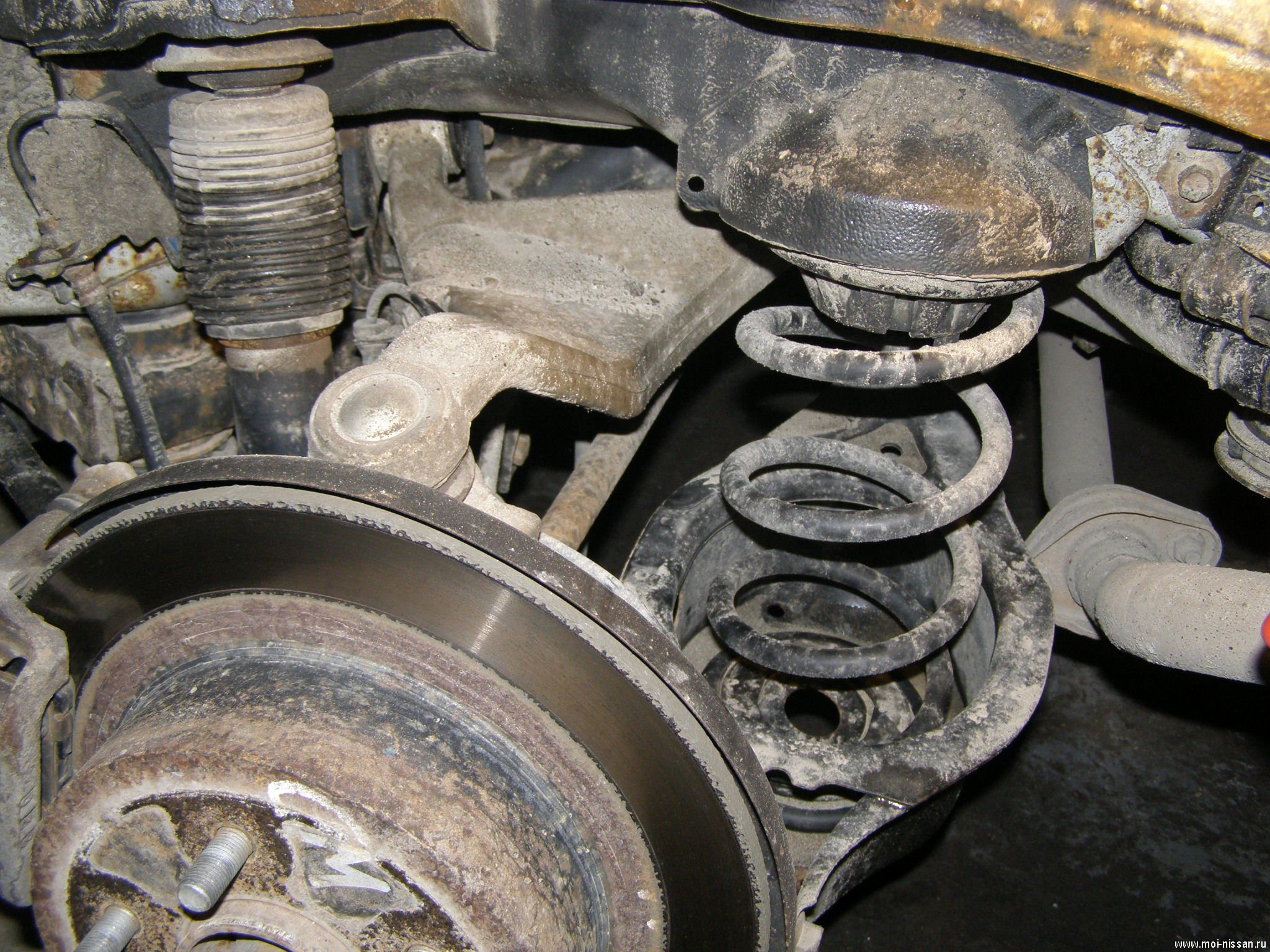 Ремонт задней подвески Nissan TEANA ...  Многорычажная подвеска Nissan.